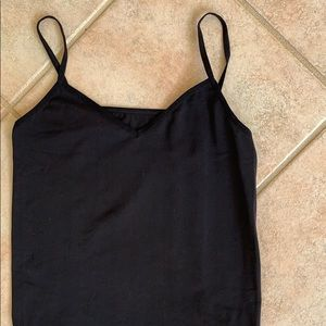 Halogen | Seamless Two-Way Black Camisole